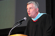 Principal Paul J. Waller speaks during the Oakwood High School 88th annual commencement at the Dayton Convention Center in downtown Dayton, Monday, June 4, 2012.