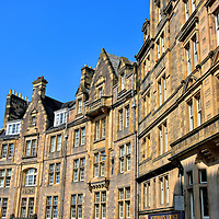Cockburn Street in Edinburgh, Scotland<br />
