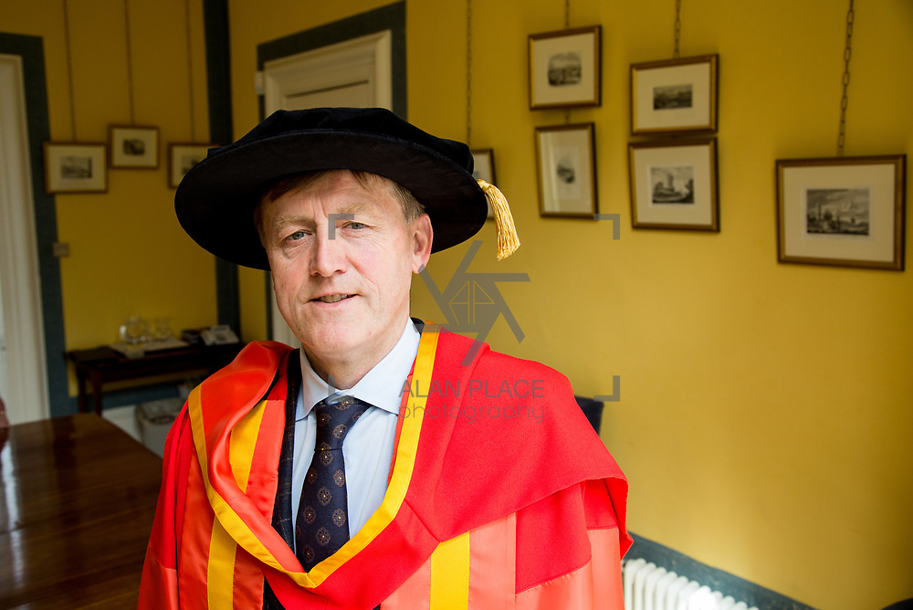 26.04.2017.          <br /> The University of Limerick today conferred Honorary Doctorates on two exceptional individuals from the worlds of business and education, Sr. Angela Bugler and Vincent Roche.&nbsp; <br /> Pictured is Vincent  Roche, President and CEO of Analog Devices Worldwide, who was conferred with an honorary degree of Doctor of Engineering. Picture: Alan Place.