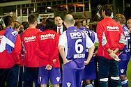 Harkemase Boys - Willem II KNVB Beker seizoen 2011-2012<br /> Jurgen Streppel ziet de 0-2 als sneeuw voor de zon verdwijnen en moet zijn spelers klaar maken voor de verlenging die met 4-2 verloren werd<br /> Foto: Geert van Erven