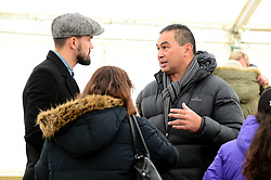 Bristol Rugby's Pat Lam speaks with Marlon Pack of Bristol City at the Bristol City and Bristol Rugby Christmas party - Photo mandatory by-line: Dougie Allward/JMP - 26/11/2017 - Avon Valley Country Park - Bristol, England -  v  - Bristol City and Bristol Rugby Christmas party