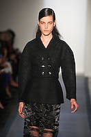 Tati Cotliar walks down runway in F2012 Peter Som's collection, New York, Feb 10, 2012