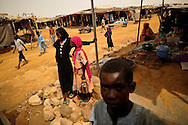 Market in Touloum refugee camp near Iriba, Chad.