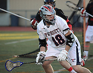 DOYLESTOWN, PA - APRIL 16:  Central Bucks East's Matt Schmidt controls the ball against Hatboro Horsham in the first period at War Memorial Field April 16, 2014 in Doylestown, Pennsylvania. (Photo by William Thomas Cain/Cain Images)