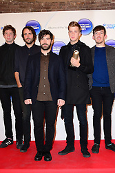 Mercury Prize. <br /> Foals attends the Barclaycard Mercury Prize at The Roundhouse, London, United Kingdom. Wednesday, 30th October 2013. Picture by Nils Jorgensen / i-Images