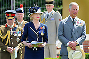 Prince Charles and the Australian Governor General Her excellency Quentin Bryce-.The reinterment of the UNKNOWN SOLDIER (WWI) PHEASANT WOOD FROMELLES FRANCE .BY JAYNE RUSSELL 19TH JULY 2010..VC CORNER ON THE MORNING OF THE SERVICE.
