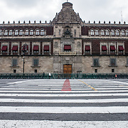The Palacio Nacional (National Palace), the building housing the executive branch of the Mexican government. Formally known as Plaza de la Constitución, the Zocalo is the historic heart of Mexico City.