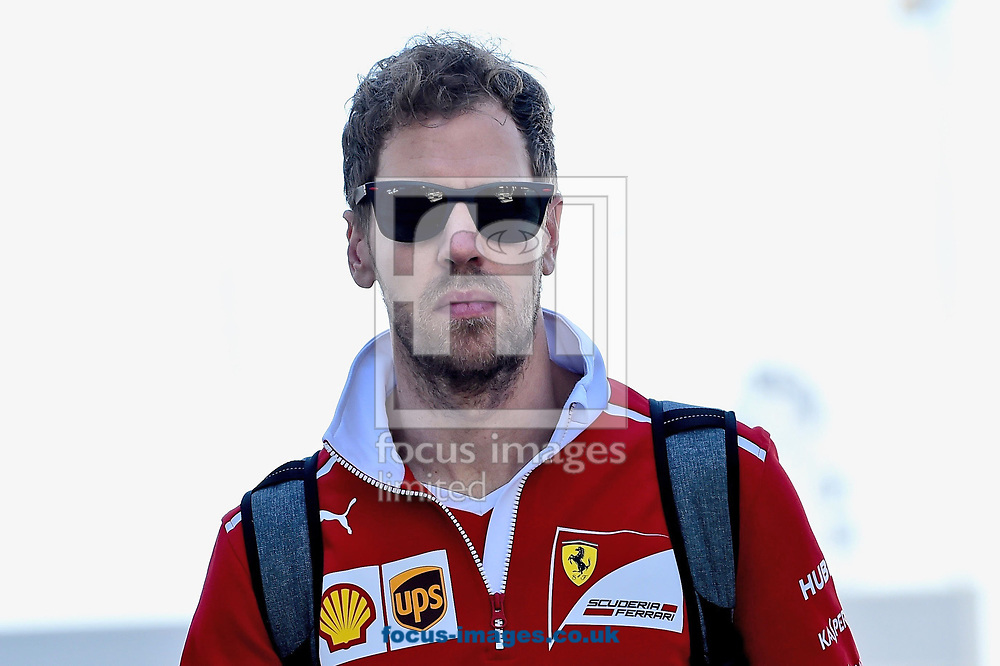 Sebastian Vettel of Scuderia Ferrari before coming second in the Russian Formula One Grand Prix at Sochi Autodrom, Sochi, Russia.<br /> Picture by EXPA Pictures/Focus Images Ltd 07814482222<br /> 30/04/2017<br /> *** UK & IRELAND ONLY ***<br /> <br /> EXPA-EIB-170430-0252.jpg