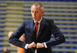 Milan Tomic, coach of Crvena  during basketball match between KK Crvena Zvezda (SRB) and KK Primorska (SLO) in 1st league of ABA League 2019/20, on October 6, 2019 in Belgrade, Serbia. Photo by Nebojsa Parausic / Sportida