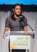 Houston ISD Foundation Executive Director Ann Scott comments during the State of the Schools luncheon at the Hilton of the Americas, February 15, 2017.