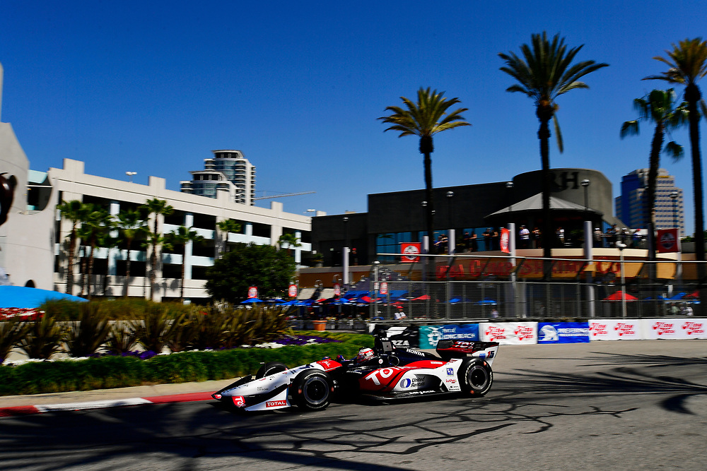 Graham Rahal, Rahal Letterman Lanigan Racing Honda<br /> Saturday 14 April 2018<br /> Toyota Grand Prix of Long Beach<br /> Verizon IndyCar Series<br /> Streets of Long Beach, California USA<br /> World Copyright: Scott R LePage<br /> LAT Images