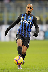February 3, 2019 - Milan, Milan, Italy - Joao Mario #15 of FC Internazionale Milano in action during the serie A match between FC Internazionale and Bologna FC at Stadio Giuseppe Meazza on February 3, 2019 in Milan, Italy. (Credit Image: © Giuseppe Cottini/NurPhoto via ZUMA Press)
