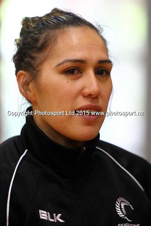 Liana Leota, Silver Ferns, New Zealand netball team training session, AUT Sport and Fitness centre, Auckland. 1 July 2015. Copyright Photo: William Booth / www.photosport.nz
