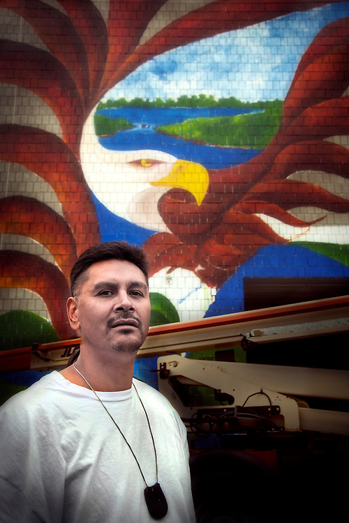 Portrait of Red Lake Artist, Wesley May.