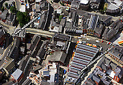 aerial photograph of Stockport Cheshire Greater Manchester England UK