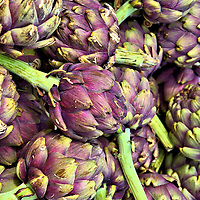 Globe Artichokes at Outdoor Market in Annecy, France