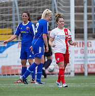Spartans' Louise Mason celebarates after scoring the only goal of the match  - Forfar Farmington v Spartans in the Scottish Womens Premier League at Station Park, Forfar. Photo: David Young<br /> <br />  - &copy; David Young - www.davidyoungphoto.co.uk - email: davidyoungphoto@gmail.com