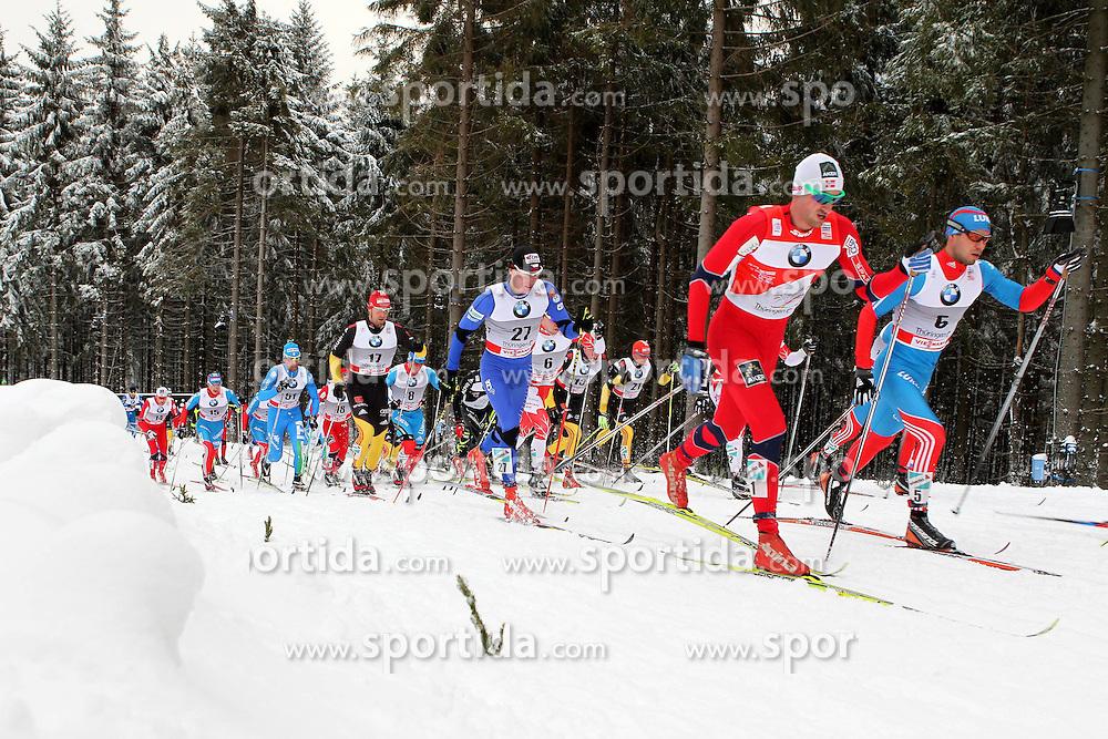 31.12.2011, DKB-Ski-ARENA, Oberhof, GER, Viessmann Tour de Ski 2011, FIS Langlauf Weltcup, Verfolgung Herren, im Bild u.a. Axel Teichmann (GER), Lukas Bauer (CZE) , Petter Northug (NOR) und Ilia Chernousov (RUS) // during men's pursuitof Viessmann Tour de Ski 2011 FIS World Cup Cross Country at DKB-SKI-Arena Oberhof, Germany on 2011/12/31. EXPA Pictures © 2011, PhotoCredit: EXPA/ nph/ Hessland..***** ATTENTION - OUT OF GER, CRO *****
