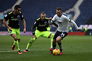 Preston North End midfielder Aiden McGeady (14) goes past Brighton & Hove Albion midfielder Jiri Skalak (8) during the EFL Sky Bet Championship match between Preston North End and Brighton and Hove Albion at Deepdale, Preston, England on 14 January 2017.