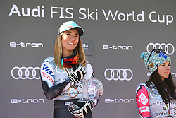 March 14, 2019 - ANDORRA - Mikaela Shiffrin (USA) in Podium Ladies Super Giant of Audi FIS Ski World Cup 18/19, in Grandvalira Soldeu/El Tarter, Andorra. (Credit Image: © AFP7 via ZUMA Wire)