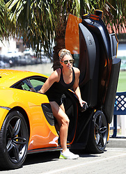 EXCLUSIVE: Living in the fast lane! Candice Warner and Husband David Warner enjoy a morning ride in a McLaren on Valentine's Day!. 14 Feb 2018 Pictured: Candice Warner. Photo credit: KHAPGG / MEGA TheMegaAgency.com +1 888 505 6342