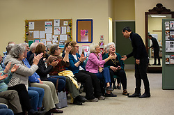 April 28, 2019 - Lebanon, NH, U.S - Julian Castro, Democratic Presidential candidate, meeting with supporters at the Senior Center in Lebanon, NH on April 28, 2019. (Credit Image: © Allison Dinner/ZUMA Wire)
