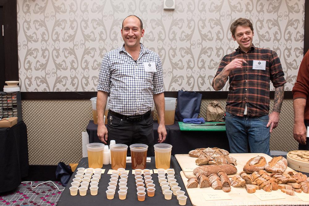 BARLEY, Hordeum vulgare Showcase: 'Karma', #STRKR, #BUCK, OSU Malt #1, Black Beaut, Meints breeding selection 3-32-OCOLOR Breeders: Pat Hayes, Oregon State University and Brigid Meints, Washington State University<br />Chef: Gabe Rosen, Biwa and Noraneko<br />Dish: Mugi-Cha
