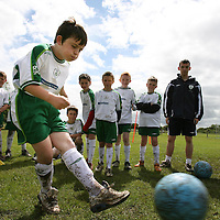 Eoin McAlister ,Quin taking part in the FAI Soccer Camp at Ballycasey on Friday last.<br /> <br /> Photograph by Eamon Ward