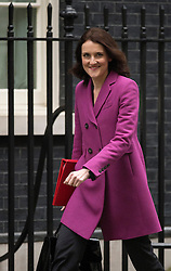 © London News Pictures. 26/02/2013. London, UK.  Secretary of State for Northern Ireland Theresa Villiers MP arriving on Downing Street for cabinet meeting. Photo credit: Ben Cawthra/LNP.