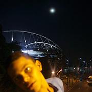 A fan outside the ground before the Fluminense V Atletico MG, Futebol Brasileirao  League match at Estadio Olímpico Joao Havelange, Rio de Janeiro. Fluminense won the match 5-1. Rio de Janeiro,  Brazil. 23rd September 2010. Photo Tim Clayton