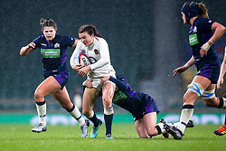 Kelly Smith of England Women is tackled - Mandatory by-line: Robbie Stephenson/JMP - 16/03/2019 - RUGBY - Twickenham Stadium - London, England - England Women v Scotland Women - Women's Six Nations