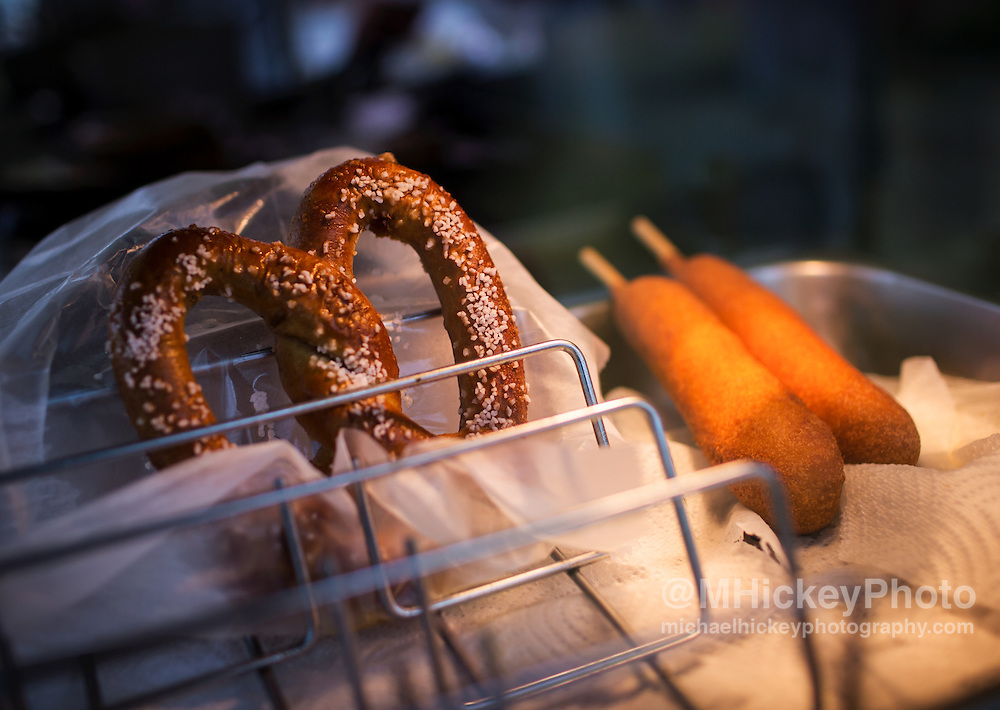 Carnival Food - pretzel and corn dogs
