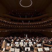 """November 13, 2012 - New York, NY : Music director and conductor Franz Welser-Möst (at podium) leads The Cleveland Orchestra in Ludwig Van Beethoven's """"Symphony No. 4 in B-flat Major, Op. 60"""" (1806) at Carnegie Hall's Isaac Stern Auditorium / Ronald O. Perelman Stage on Tuesday evening. CREDIT: Karsten Moran for The New York Times"""