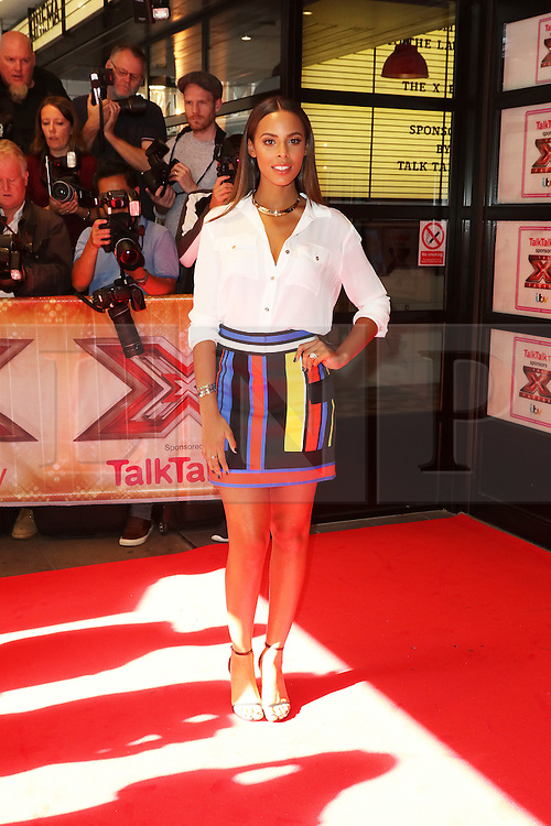 © London News Pictures. Rochelle Humes, The X Factor - press launch, Picturehouse Central, London UK, 26 August 2015, Photo by Richard Goldschmidt /LNP