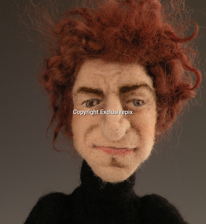 USA - 17/-8/2010 - Celebrity Sculptural needle felting by Kay Petal from Alaska has been creating amazing creations since 2007.all these creations are made by a single needle and wool.<br /> Photo Shows: Bob Dylan<br /> (&copy;Kay Petal/Exclusivepix)