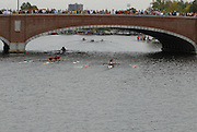 Boston, USA, Club Men's Coxed four,  competing in the Head of the Charles, Race Charles River,  Cambridge,  Massachusetts. Saturday  20/10/2007  [Mandatory Credit Peter Spurrier/Intersport Images]..... , Rowing Course; Charles River. Boston. USA