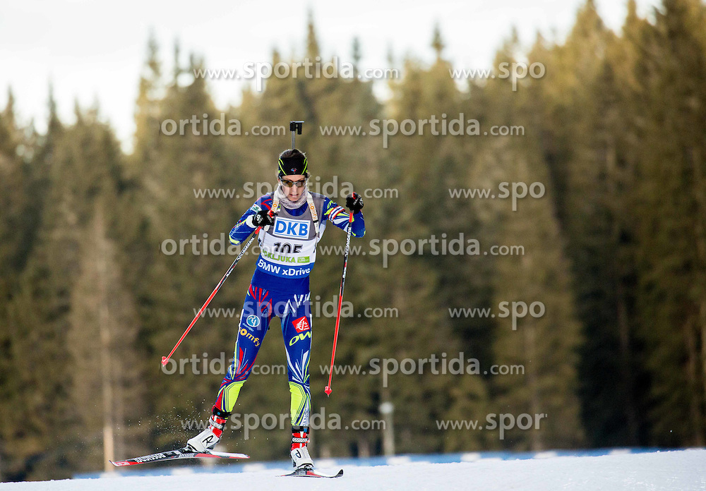 Chloe Chevalier (FRA) competes during Women 7,5 km Sprint at day 2 of IBU Biathlon World Cup 2015/16 Pokljuka, on December 18, 2015 in Rudno polje, Pokljuka, Slovenia. Photo by Vid Ponikvar / Sportida