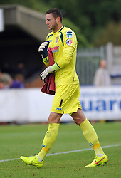 Stevenage's Sam Beasant - photo mandatory by-line David Purday JMP- Tel: Mobile 07966 386802 - 30/08/14 - Afc Wimbledon v Stevenage - SPORT - FOOTBALL - Sky Bet Leauge 2 - London - The Cherry Red Stadium