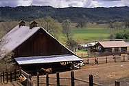 Rural farm barn in the San Antonio Valley, Santa Clara County, California