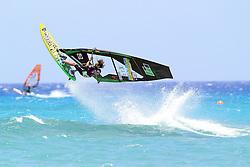 26.07.2015, Costa Calma, Fuerteventura, ESP, PWA Windsurfing Freestyle Grand Slam, im Bild Akgazciyan Nicolas F-400 // during the PWA Windsurfing Freestyle Grand Slam at the Costa Calma in Fuerteventura, Spain on 2015/07/26. EXPA Pictures © 2015, PhotoCredit: EXPA/ Eibner-Pressefoto/ Roskaritz<br /> <br /> *****ATTENTION - OUT of GER*****