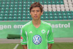 12.07.2011, Volkswagen Arena, Wolfsburg, GER, 1.FBL,  VfL Wolfsburg, Spielervorstellung im Bild  Koo Ja-Cheol #5 Spieler beim VfL Wolfsburg in der Saison 2011/2012 // during the player praesentation in Wolfsburg 2011/07/12.     EXPA Pictures © 2011, PhotoCredit: EXPA/ nph/  Rust       ****** out of GER / CRO  / BEL ******