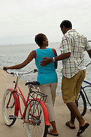 Couple With Bicycles at the Beach