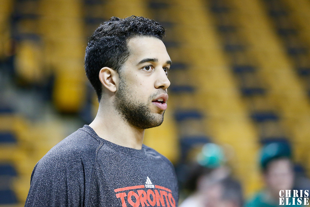 13 March 2013: Toronto Raptors small forward Landry Fields (2) warms up prior to the Boston Celtics 112-88 victory over the Toronto Raptors at the TD Garden, Boston, Massachusetts, USA.