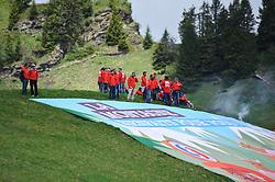 Spectators at the top of the Col de la Joux Plane during stage 6 of the Criterium du Dauphine. Photo by Simon Parker/SPactionimages