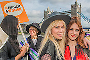 Natasha Bedingfield and Kate Nash - Thousands join CARE International's #March4Women campaign in London celebrating International Women's Day.