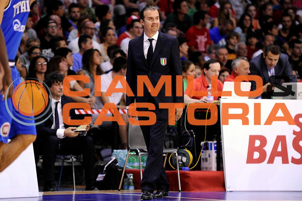DESCRIZIONE : Bellinzona Qualificazione Eurobasket 2015 Qualifying Round Eurobasket 2015 Svizzera Italia Switzerland Italy<br /> GIOCATORE : Simone Pianigiani<br /> CATEGORIA : Esultanza<br /> EVENTO : Bellinzona Qualificazione Eurobasket 2015 Qualifying Round Eurobasket 2015 Svizzera Italia Switzerland Italy<br /> GARA : Svizzera Italia Switzerland Italy<br /> DATA : 27/08/2014<br /> SPORT : Pallacanestro<br /> AUTORE : Agenzia Ciamillo-Castoria/Max.Ceretti<br /> Galleria: Fip Nazionali 2014<br /> Fotonotizia: Bellinzona Qualificazione Eurobasket 2015 Qualifying Round Eurobasket 2015 Svizzera Italia Switzerland Italy<br /> Predefinita :