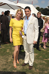 CEM & CAROLINE HABIB at the Cartier International Polo at Guards Polo Club, Windsor Great Park on 27th July 2008.<br /> <br /> NON EXCLUSIVE - WORLD RIGHTS