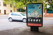 Warning posters regarding wild boar in Sant Cugat del Valles, Barcelona, Catalonia. Cartells d'advertència.