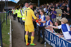 Sam Slocombe of Bristol Rovers gives his gloves to young fan after the match - Mandatory by-line: Richard Calver/JMP - 05/05/2018 - FOOTBALL - Roots Hall - Southend-on-Sea, England - Southend United v Bristol Rovers - Sky Bet League One