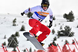 MONTAGGIONI Maxime, SB-UL, FRA, Banked Slalom at the WPSB_2019 Para Snowboard World Cup, La Molina, Spain
